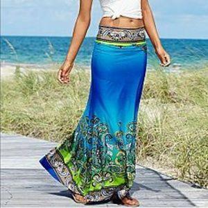 Paisley Print Maxi Skirt Multi